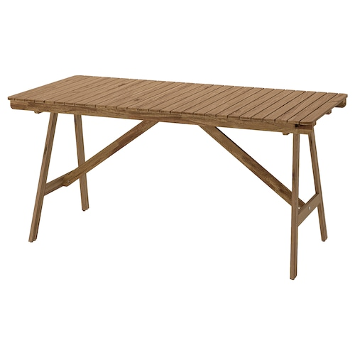 """FALHOLMEN table, outdoor light brown stained 60 1/4 """" 28 3/4 """" 28 3/8 """""""