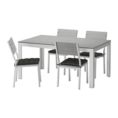 FALSTER Table And 4 Chairs Outdoor Falster Gray H Ll Black IKEA