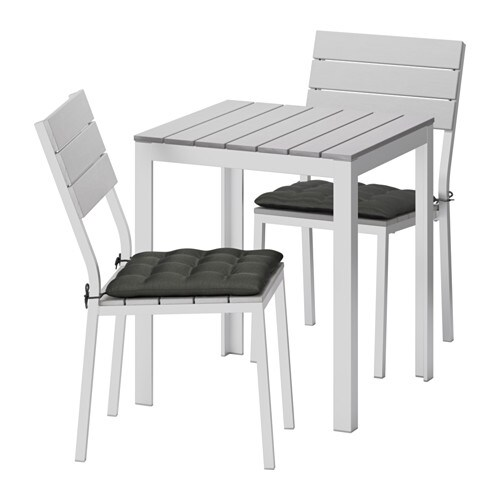 falster table 2 chairs outdoor falster gray h ll black. Black Bedroom Furniture Sets. Home Design Ideas