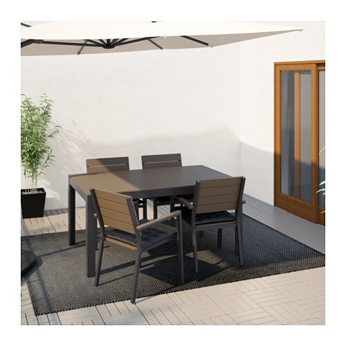 FALSTER Table, Outdoor   Black/brown   IKEA