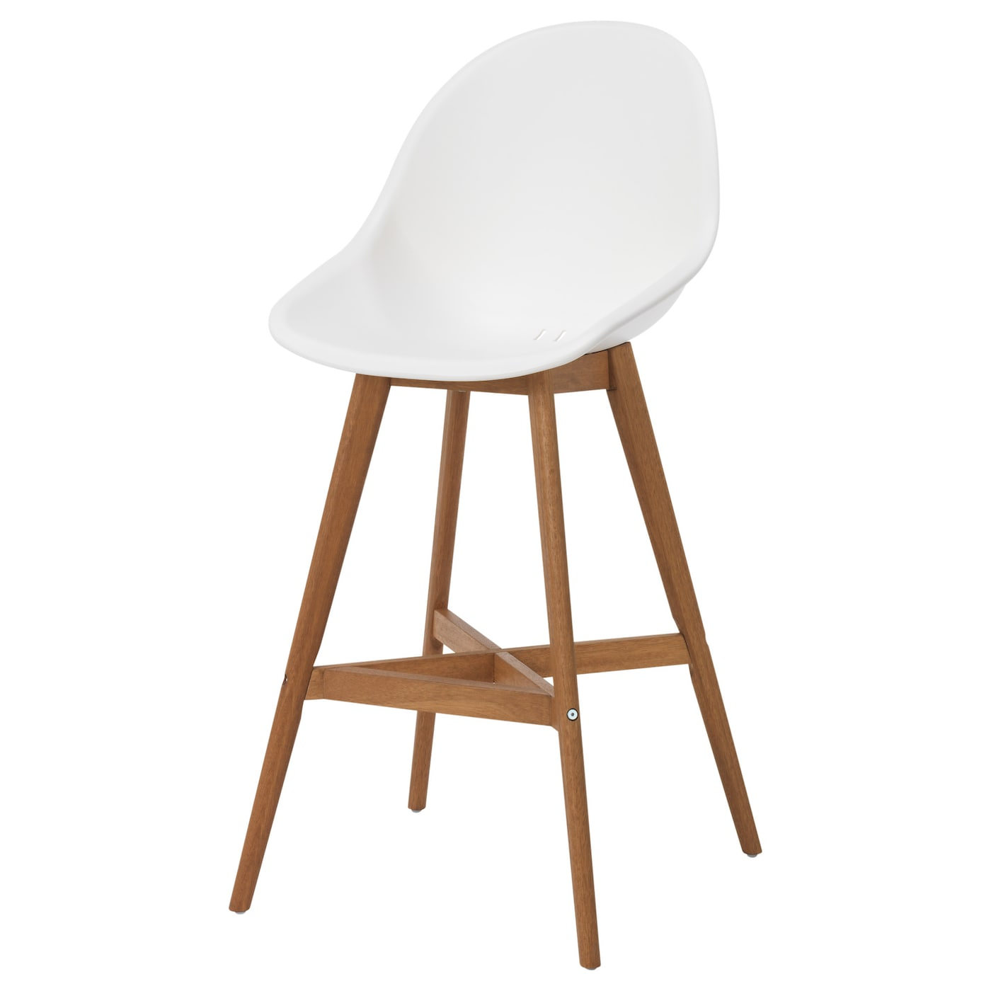 Fanbyn Bar Stool With Backrest White