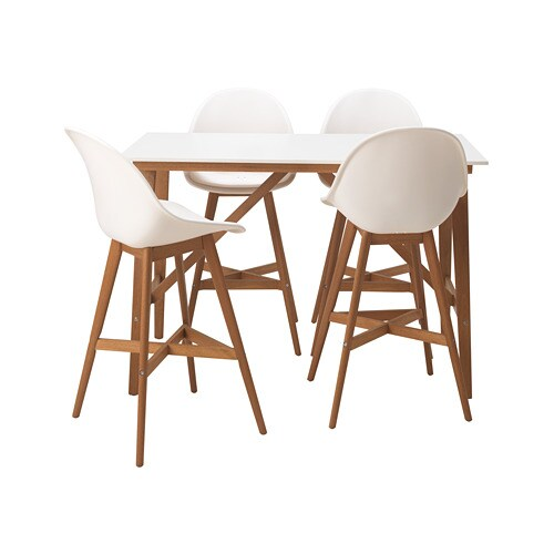 Charmant FANBYN Bar Table And 4 Bar Stools, White, White