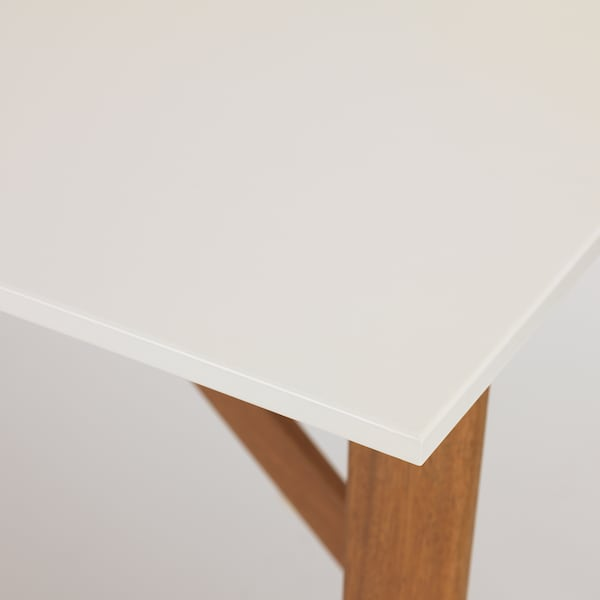 FANBYN Bar table, white, 55 1/8x30 3/4x37 3/8 ""
