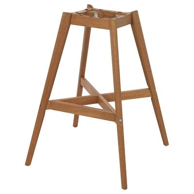 "FANBYN Barstool frame, brown wood effect, 25 """