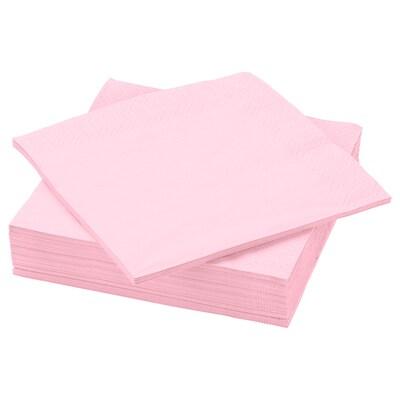 """FANTASTISK Paper napkin, light pink, 15 ¾x15 ¾ """""""