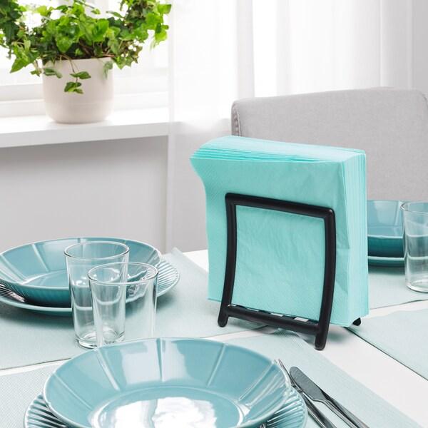 """FANTASTISK Paper napkin, light turquoise, 15 ¾x15 ¾ """""""
