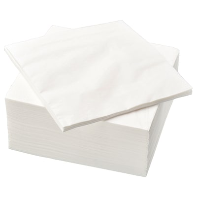 """FANTASTISK Paper napkin, white, 15 ¾x15 ¾ """""""
