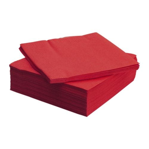 FANTASTISK Paper napkin IKEA The napkin is highly absorbent because it's made of three-ply paper.