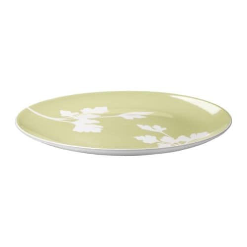 "FÄRGRIK HÖGST Plate, light green, white Diameter: 11 ""  Diameter: 27 cm"