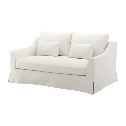 F rl v loveseat flodafors white ikea for Ikea sofas en cuir