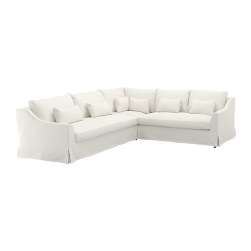 F rl v sectional 5 seat sofa left flodafors white ikea - Canapes cuir ikea ...