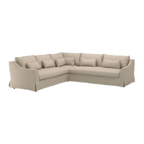 FÄRLÖV - Sectional,5 seat/sofa right, Flodafors beige