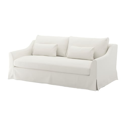 F rl v sofa flodafors white ikea for Housse sofa ikea