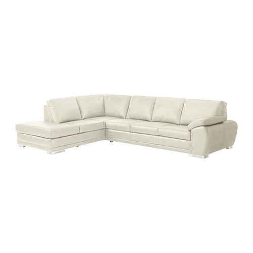 Ikea White Leather Couch Sofas: With Open End, Left/Grann/Bomstad White
