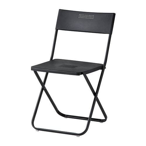 Fejan chair outdoor folding black ikea for Ikea folding stool
