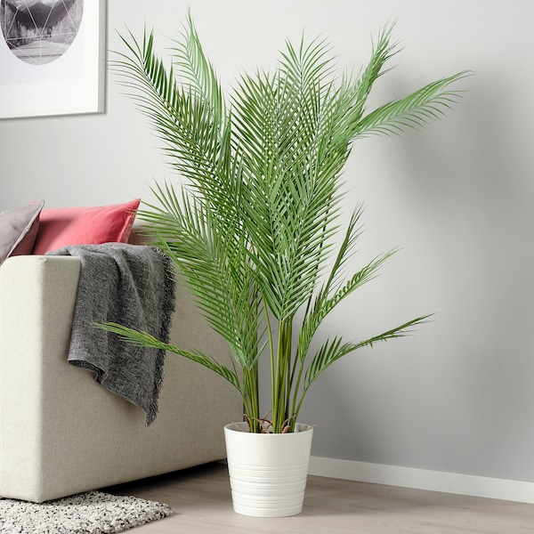 """FEJKA Artificial potted plant, indoor/outdoor palm, 7 ½ """""""
