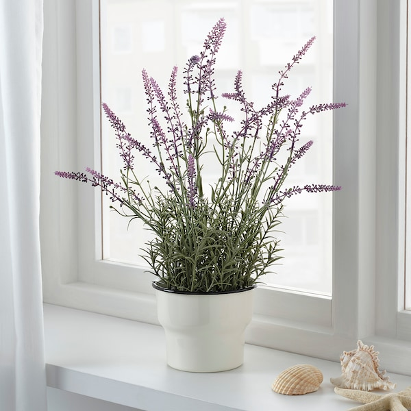 "FEJKA artificial potted plant lavender lilac 4 ¾ "" 19 """