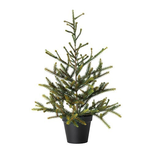 "FEJKA Artificial potted plant, christmas tree Diameter of plant pot: 5 ½ "" Height: 22 ""  Diameter of plant pot: 14 cm Height: 56 cm"