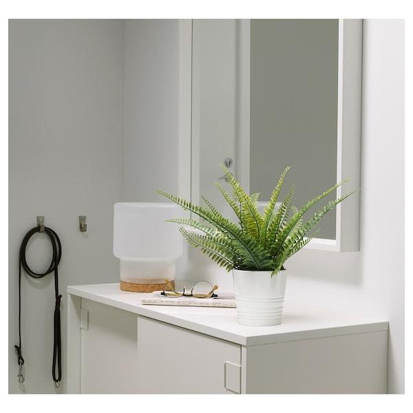 "FEJKA artificial potted plant indoor/outdoor fern 3 ½ "" 13 ½ """