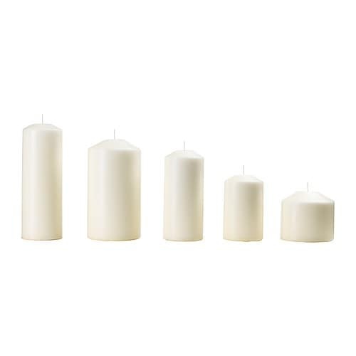 FENOMEN Unscented block candle, set of 5 IKEA Unscented.