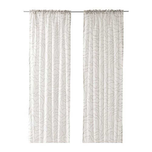 FERLE Curtains, 1 pair IKEA The curtains can be used on a curtain rod or KVARTAL curtain track.