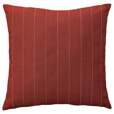 FESTHOLMEN Cushion cover, in/outdoor, red/light grey-beige, 20x20 ""