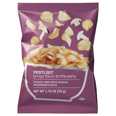 FESTLIGT Potato crisps, pickled mushroom, 2 oz
