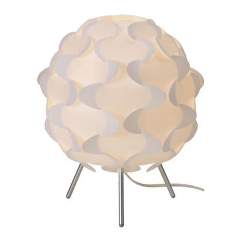 FILLSTA Table lamp with LED bulb, white