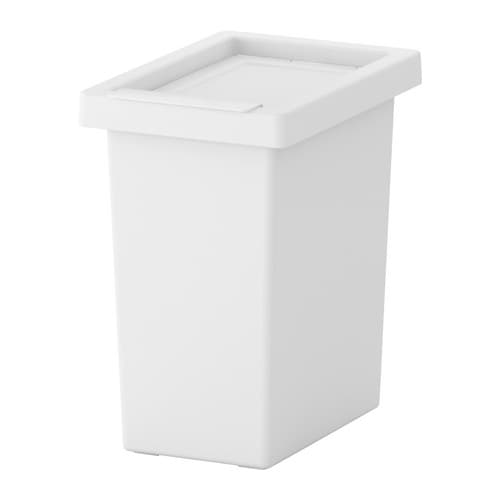 FILUR Bin with lid, white white 3 gallon