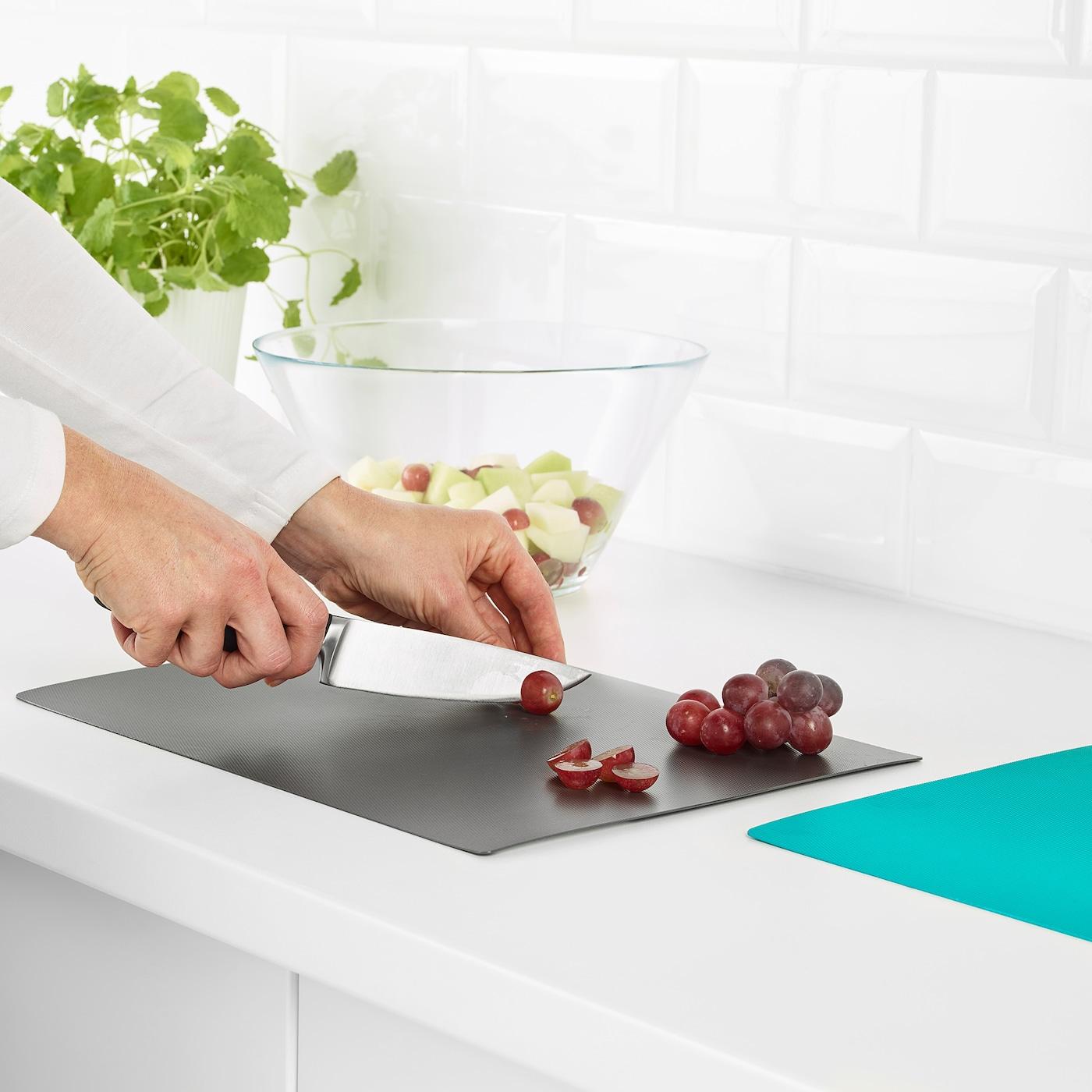 Finfordela Flexible Chopping Board Dark Gray Dark Turquoise Ikea