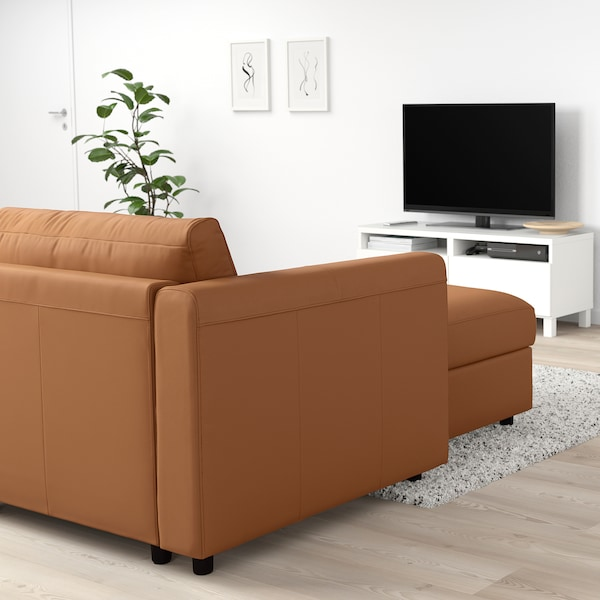 FINNALA Chaise, Grann/Bomstad golden brown