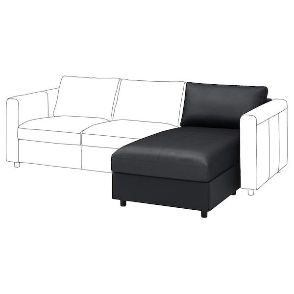 FINNALA Chaise section, Grann/Bomstad black