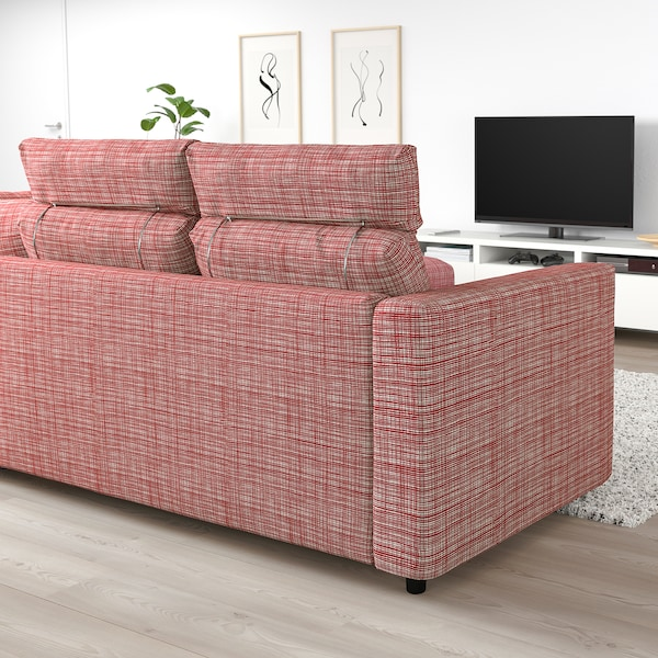 "FINNALA sectional, 4-seat corner with open end with headrests/Dalstorp multicolor 41 3/8 "" 33 1/2 "" 28 "" 38 5/8 "" 92 1/2 "" 76 3/4 "" 75 5/8 "" 98 "" 2 3/8 "" 5 7/8 "" 28 "" 21 5/8 "" 18 7/8 """