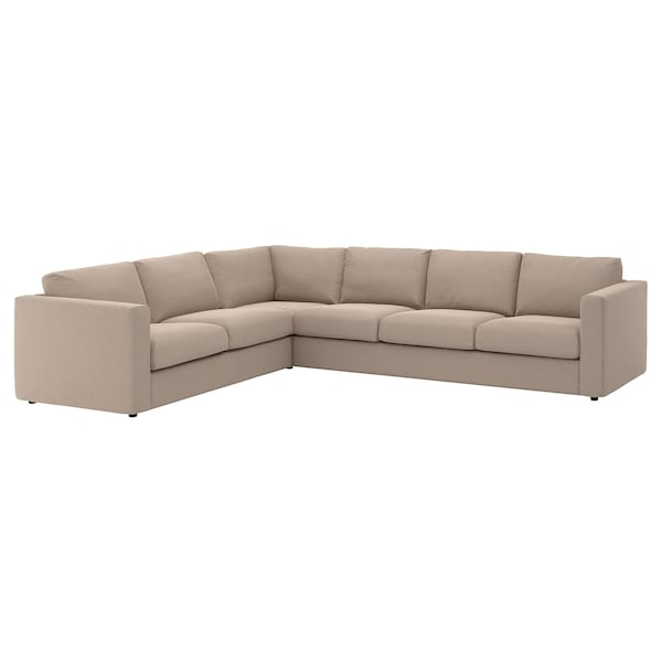 "FINNALA cover for sectional, 5-seat Tallmyra beige 32 5/8 "" 26 3/4 "" 38 5/8 "" 125 5/8 "" 103 1/8 "" 75 5/8 "" 98 "" 2 3/8 "" 5 7/8 "" 26 3/4 "" 21 5/8 "" 18 7/8 """