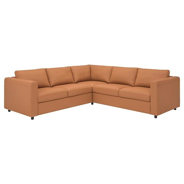 FINNALA Sectional, 4-seat corner, Grann/Bomstad golden brown