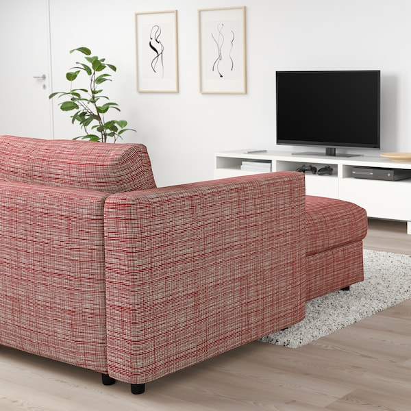 FINNALA Sectional, 5-seat corner, with chaise/Dalstorp multicolor