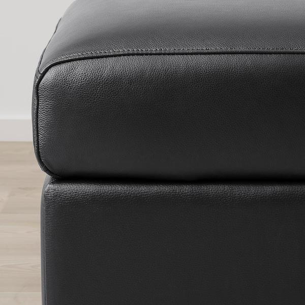 FINNALA Sectional, 5-seat corner, with chaise/Grann/Bomstad black