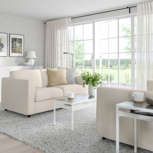 FINNALA Sleeper sofa, Gunnared beige