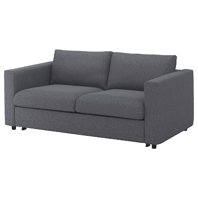 FINNALA Sleeper sofa, Gunnared medium gray
