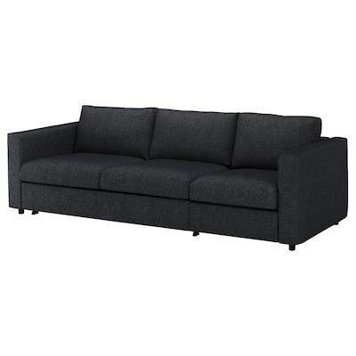FINNALA Sleeper sofa, Tallmyra black/gray