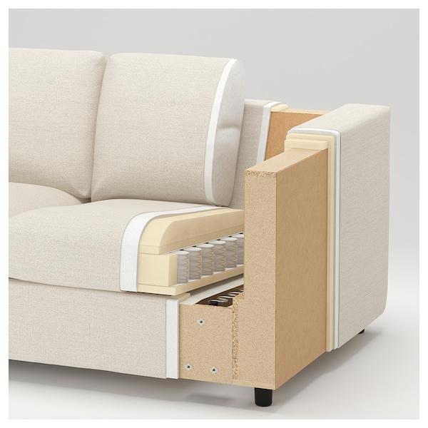 FINNALA Sleeper sofa, with chaise/Gunnared beige