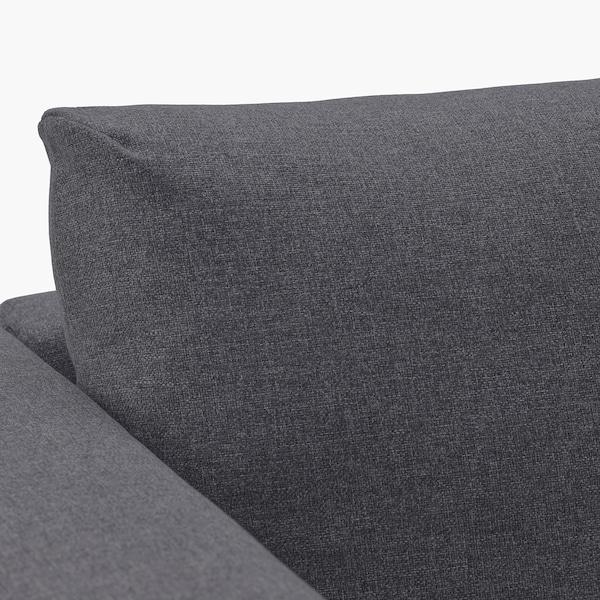 FINNALA Sleeper sofa, with chaise/Gunnared medium gray
