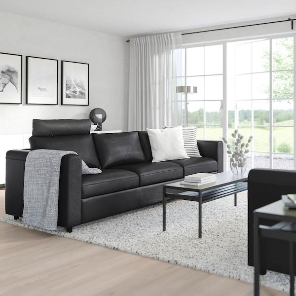 FINNALA Sofa, with headrest/Grann/Bomstad black