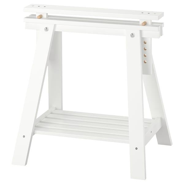 Ikea Tavoli Di Vetro.Finnvard Trestle With Shelf White 27 1 2x28 36 5 8 Ikea