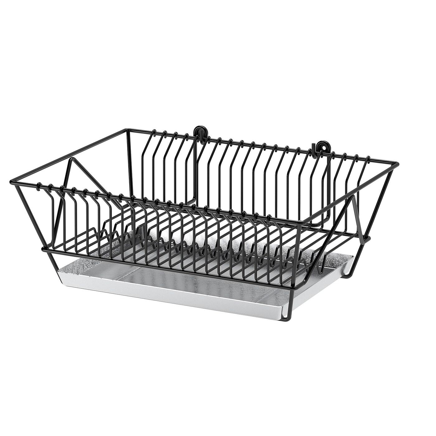 Fintorp Dish Drainer Black Galvanized Ikea