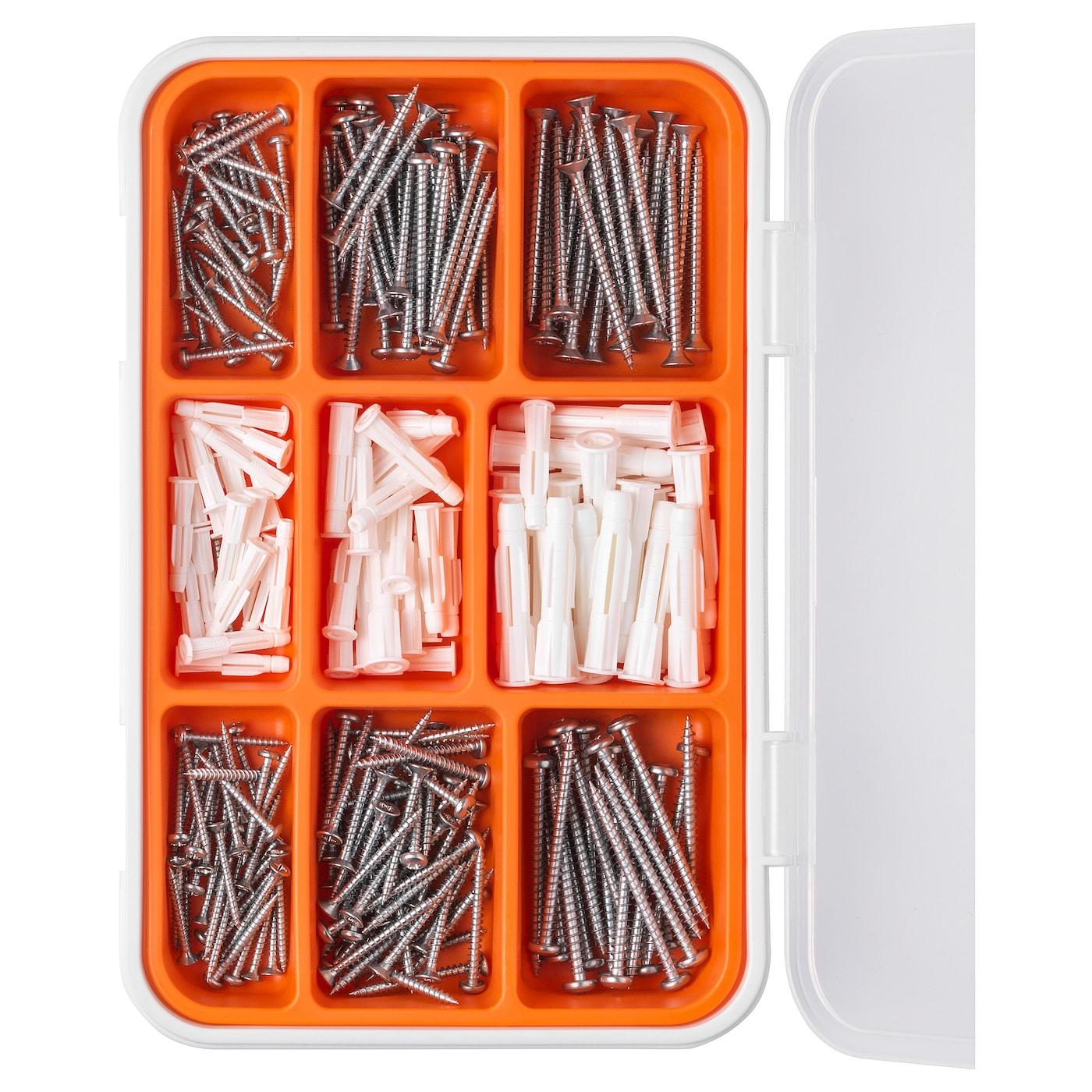 Fixa 260 Piece Screw And Plug Set Ikea