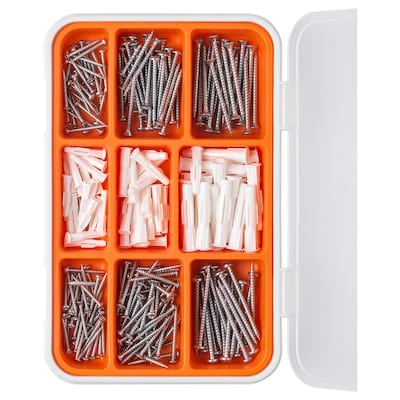 FIXA 260-piece screw and plug set