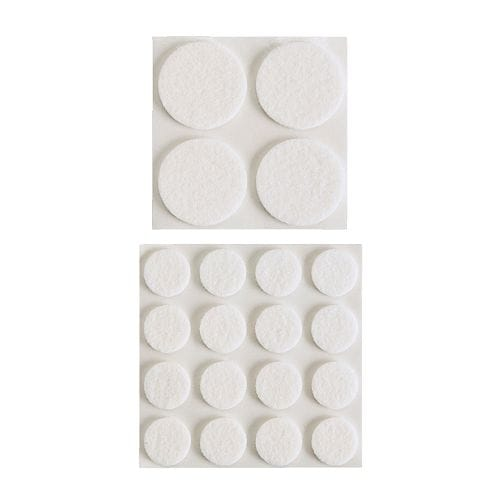 FIXA Stick-on floor protectors set of 20 IKEA Protects the underlying surface against wear and scratching.