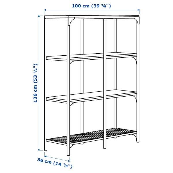 "FJÄLLBO Shelf unit, black, 39 3/8x53 1/2 """