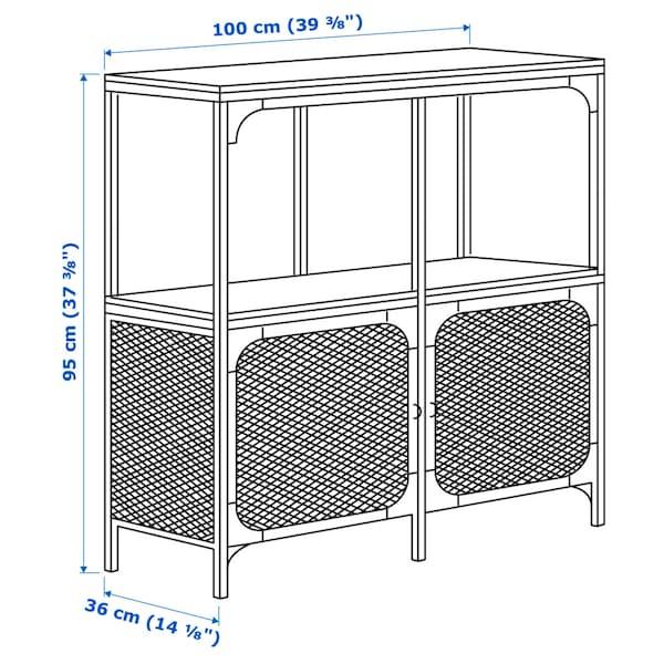 "FJÄLLBO shelf unit black 39 3/8 "" 14 1/8 "" 37 3/8 "" 75 lb"